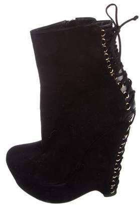 Saint Laurent Corset Suede Boots