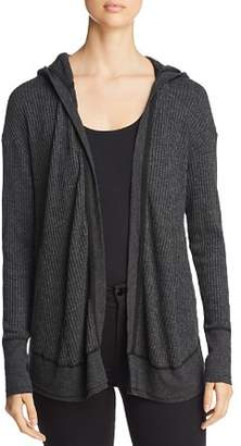 Three Dots Hooded Thermal Cardigan