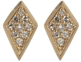 Ef Collection 14K Yellow Gold Diamond Pave Stud Earrings - 0.12 ctw