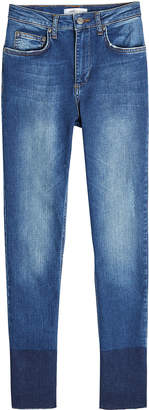 Anine Bing Skinny Jeans with Contrast Ankle Detail