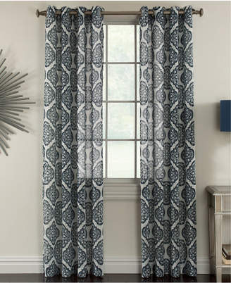 "Miller Curtains Campbell 50"" x 84"" Textured Print Sheer Curtain Panel"