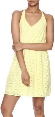 Everly Yellow Eyelet Dress $62 thestylecure.com