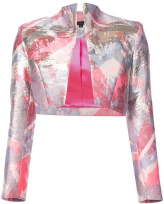 Rubin Singer abstract print cropped jacket