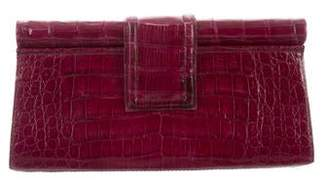 Nancy Gonzalez Crocodile Frame Clutch