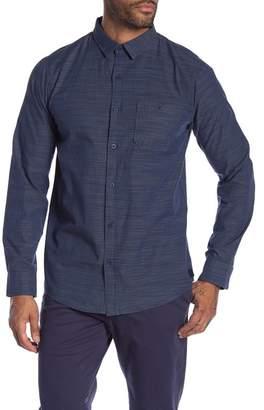 Tavik Dumont Stripe Print Modern Fit Shirt