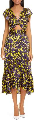 A.L.C. Valencia Silk Midi Dress