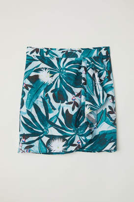 H&M Patterned Wrapover Skirt - Green