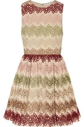 Alice + Olivia Alice+olivia Joyce Striped Guipure Lace Mini Dress