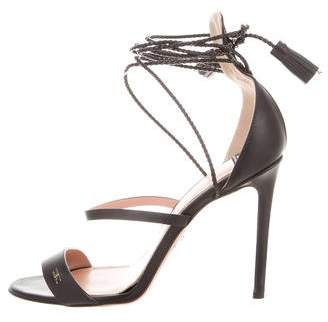 Elisabetta Franchi Leather Caged Sandals