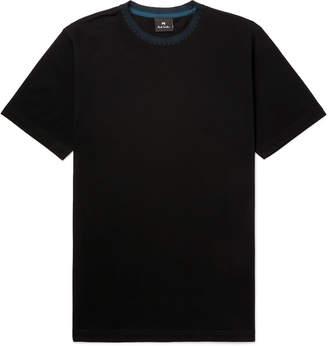 Paul Smith Contrast-Trimmed Cotton-Pique T-Shirt - Men - Black