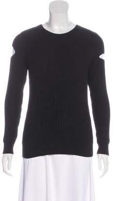 AllSaints Cold-Shoulder Rib Knit Sweater