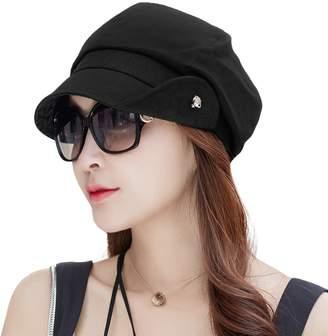 8fc63e50cbe at Amazon Canada · Siggi Ladies Newsboy Cabbie Beret Cap Black Cloche Hat  Painter Caps for Women