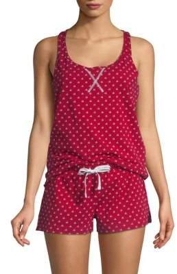 Calvin Klein Solid Jersey Sleeveless Tee & Pajama Pants Set