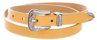 Rebecca Minkoff Skinny Leather Belt