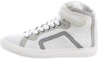 Pierre Hardy Perforated High-Top Sneakers