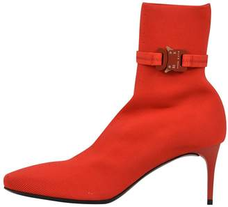 Camilla And Marc Alyx 6 Cm Knit Stretch Boots Red