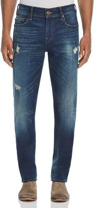 True Religion Rocco Slim Fit Jeans in Worn Carbon