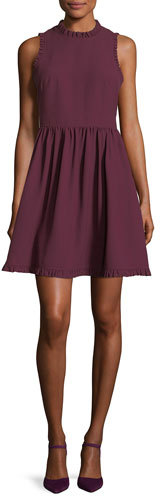 Kate Spade New York Fit-And-Flare Ruffled Sleeveless Day Dress