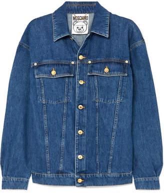 Moschino Embellished Denim Jacket - Blue