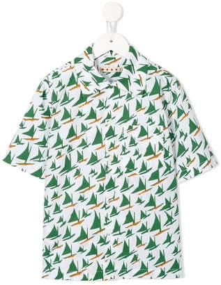 Marni sailing boat print shirt