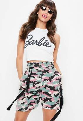 Missguided Barbie x Pink Camo Shorts