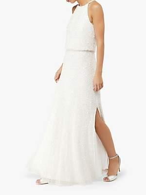 Monsoon Diana Embellished Bridal Maxi Dress, Ivory
