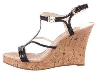 MICHAEL Michael Kors Leather Caged Wedges