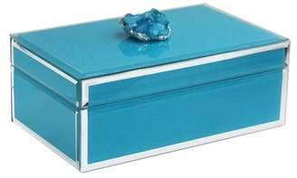 Jay Import Blue Agate Trinket Box
