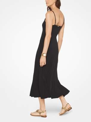 MICHAEL Michael Kors Lace-Up Jersey Slip Dress