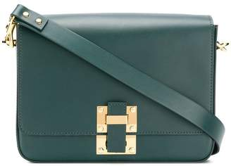 Sophie Hulme foldover flap buckled boxy satchel