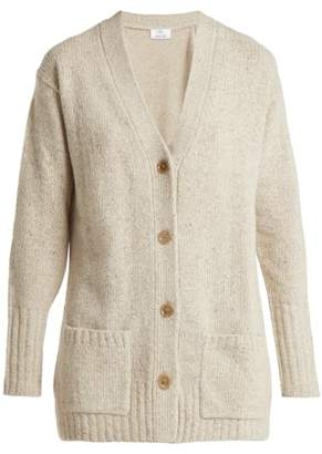 Allude - V Neck Cashmere Cardigan - Womens - Beige