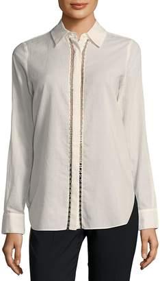 Haute Hippie Women's Chain Cotton Button-Down Shirt