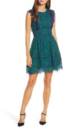Adelyn Rae Adeylyn Rae Alisa Evening Lace Ruffle Dress