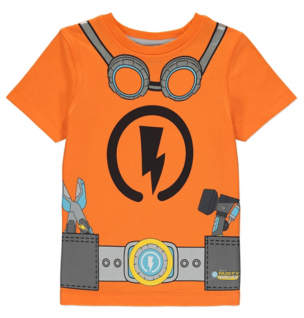 George Orange Rusty Rivets T-Shirt