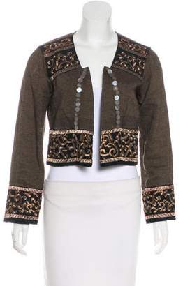 Dries Van Noten Embellished Cropped Jacket