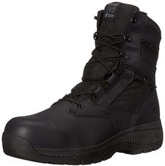 Timberland Men's 8 Inch Valor Comp Toe Waterproof Side Zip Work Boot