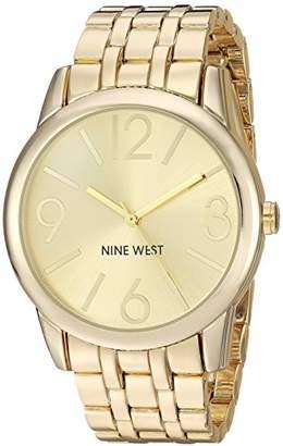 Nine West Women's NW/1578CHGB Champagne Dial -Tone Bracelet Watch