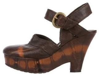 Henry Beguelin Leather Platform Clogs