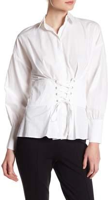 Romeo & Juliet Couture Corset Lace-Up Blouse
