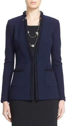 Women's St. John Collection Micro Boucle Knit Jacket $1,695 thestylecure.com