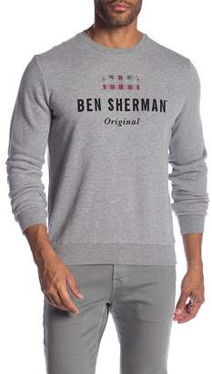 Ben Sherman Long Sleeve Union Jack Logo Sweater