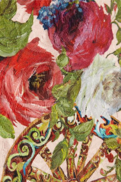 Dolce & Gabbana Floral-print jacquard top