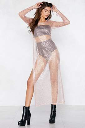 Nasty Gal Right Sheer Maxi Dress