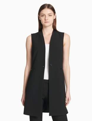 Calvin Klein lux one button sleeveless vest