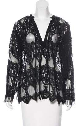 Zadig & Voltaire Mesh Embroidered Top
