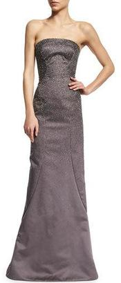Zac Posen Strapless Embellished Gown, Heather Gray $7,990 thestylecure.com