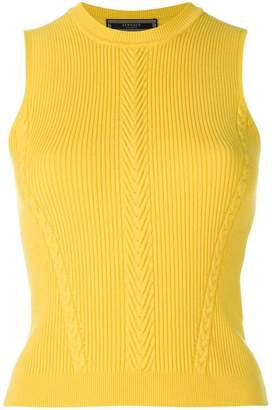 Versace fitted sleeveless jumper