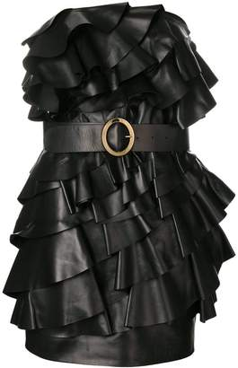 DSQUARED2 ruffled strapless dress