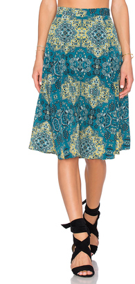 House of Harlow x REVOLVE Laya Midi Skirt $110 thestylecure.com