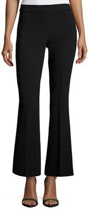 Boutique Moschino Stretch-Knit Wide-Leg Pants, Black $465 thestylecure.com